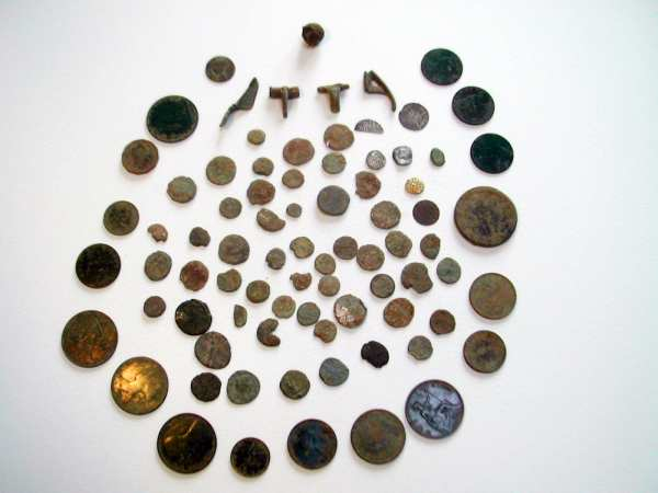 Ancient coins and artefacts found with a Teknetics T2